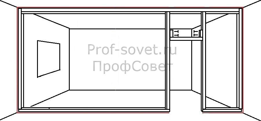 Установка перекладины дверного проема в перегородке из гипсокартона