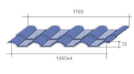 Рабочий размер металлочерепицы